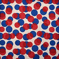 8992/青と赤の水玉