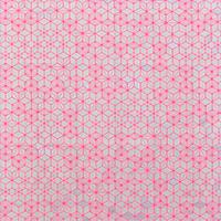 9034/麻の葉文様の蛍光ピンク