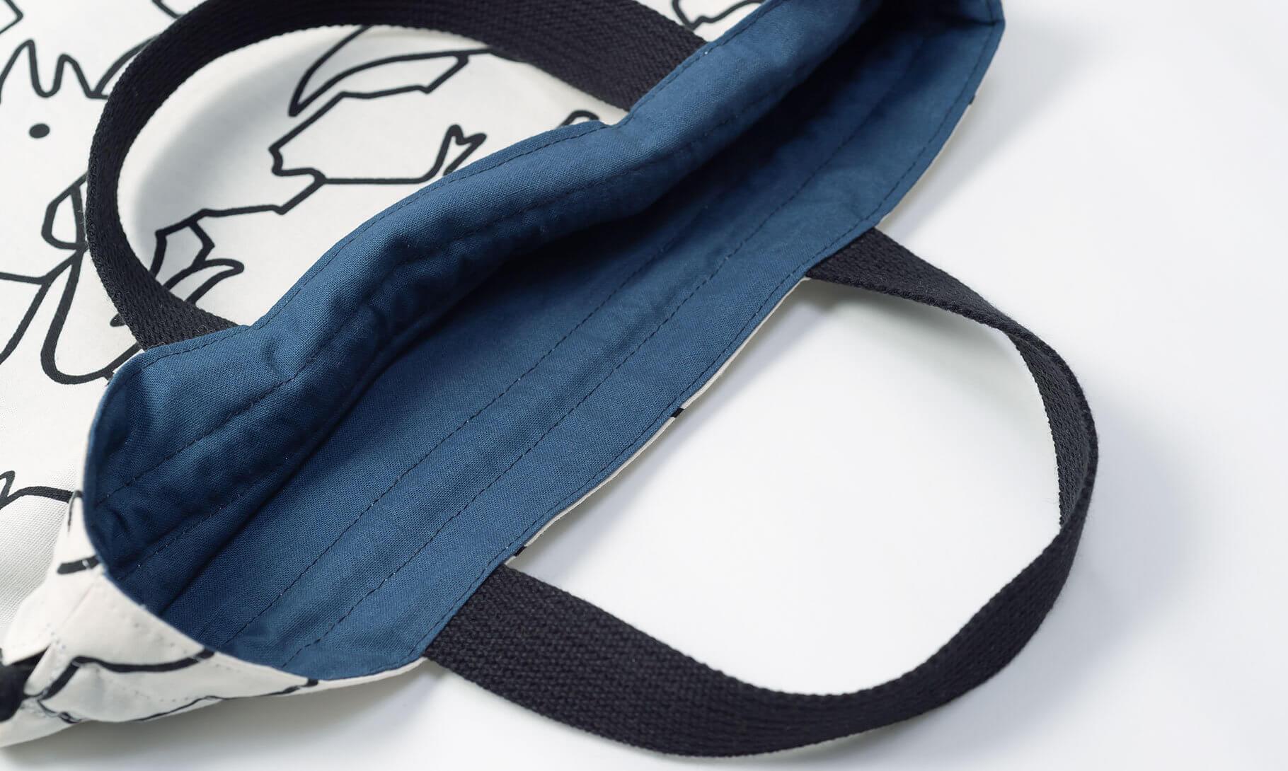 体操服袋(恐竜柄、内布ネイビー)