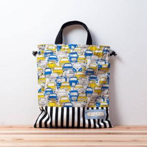 体操服袋(車柄ニューヨークの渋滞、ロンドンストライプ)
