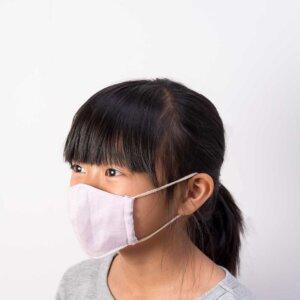 子供用立体マスク女の子装着斜め