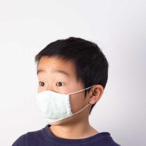 子供用立体マスク男の子装着斜め