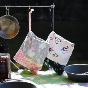 コップ袋とキャンプ