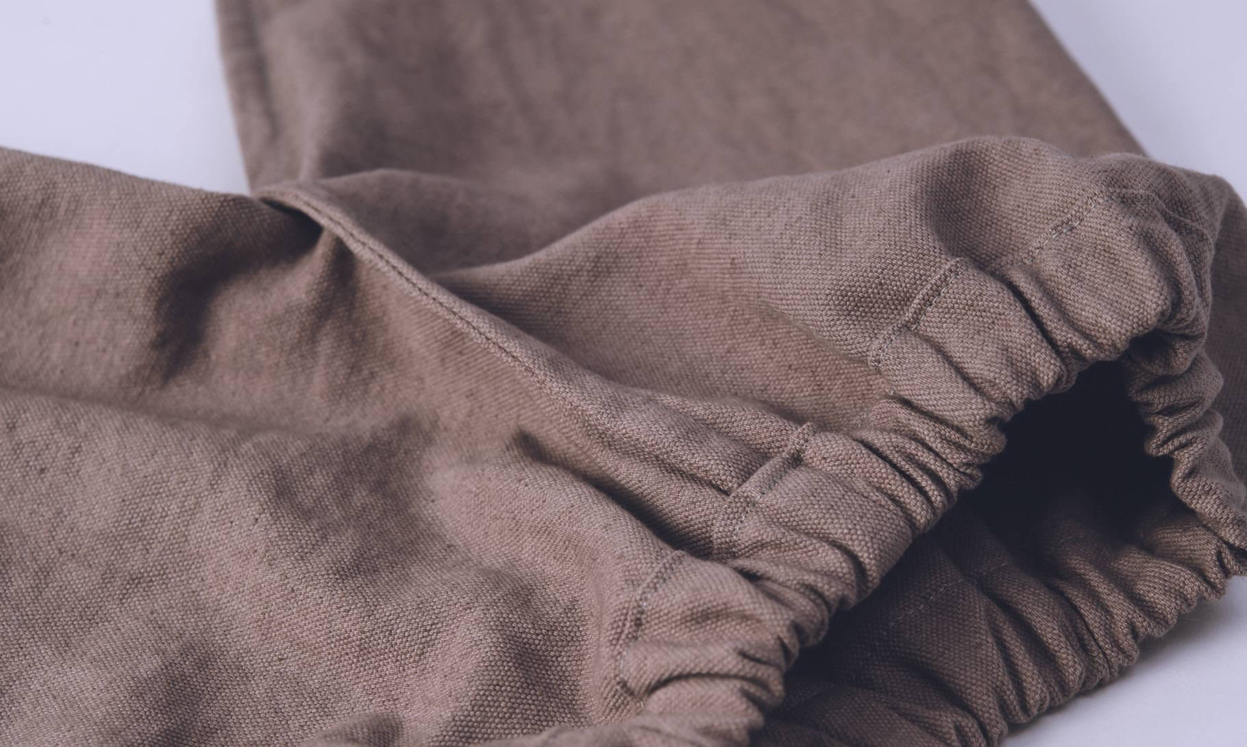 スモックパンツ、裏側袋縫い