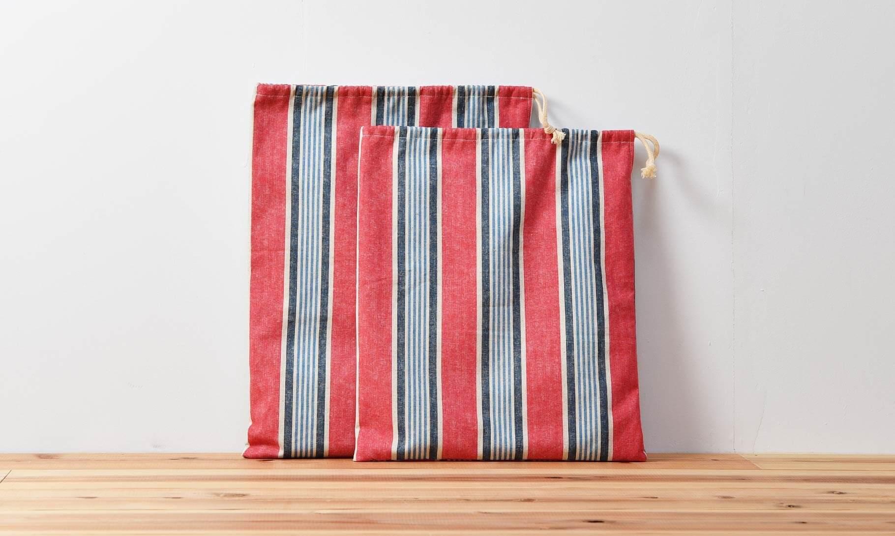大きな巾着袋(片側巾着)