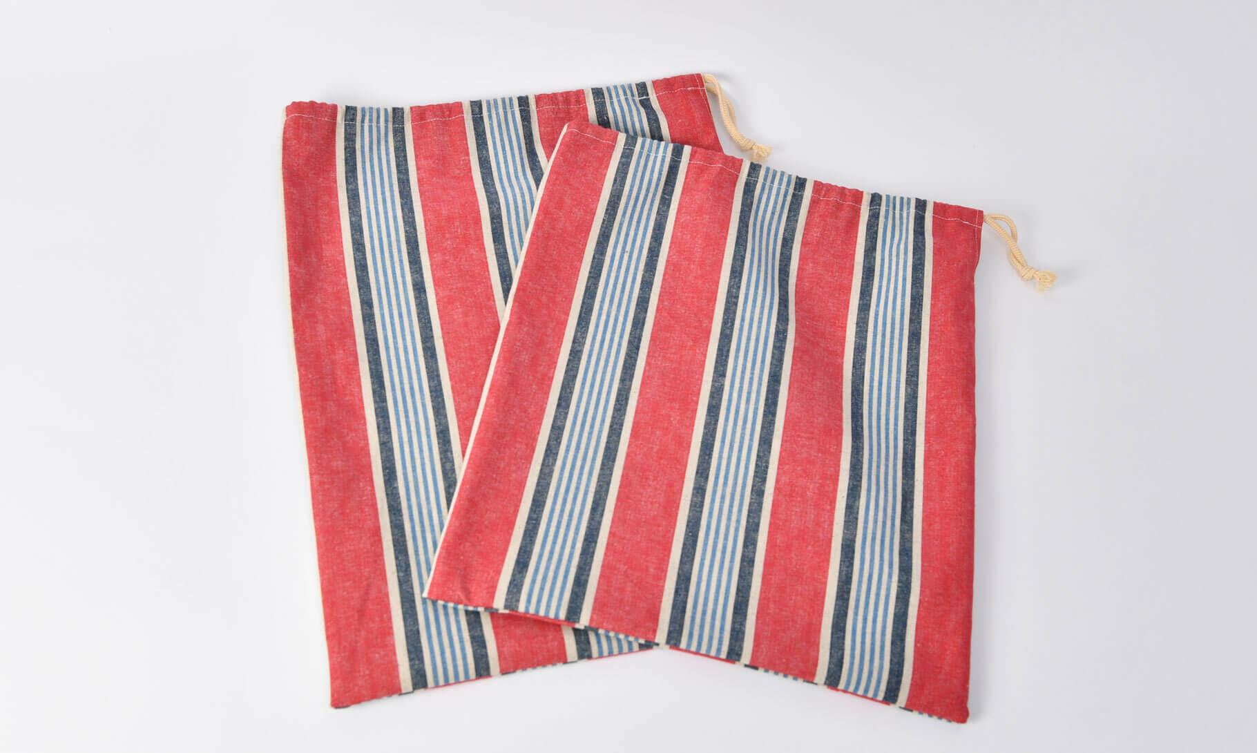 大きな巾着袋の雰囲気(片側巾着)