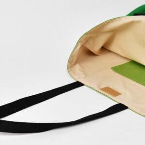 レッスンバッグ(帆布グリーン、タイダイグリーン)内ポケットと裏地