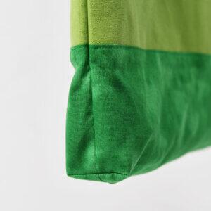 レッスンバッグ(帆布グリーン、タイダイグリーン)マチ底部アップ